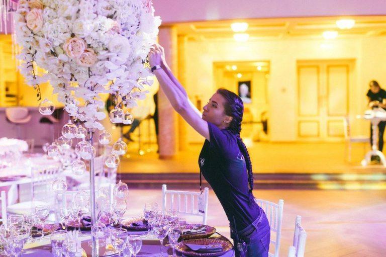 Оформление свадебного зала своими руками, фото